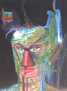Giovanni Manunta Pastorello, Ziggy. Acrilico su tela, 2018