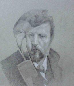 Massimiliano Alioto, Gaetano Previati. Matita su carta, 2016