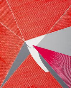 Ester Grossi, Urlo di colore. Acrilico su tela, 2018