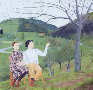 Manuel Pablo Pace, Angelica e Medoro. Olio su tela, 2012.