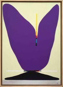 108, La chiave. Acrilico e matita su mdf, 2019. Galleria Antonio Colombo, Milano