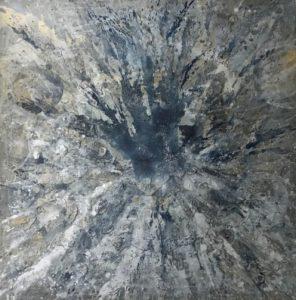 Alberto Di Fabio, Matter and soul. Acrilico su tela, 2018