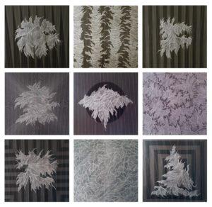 Giorgio Milano, Monopole. Acrilico e pigmento di grafite argentea su tela