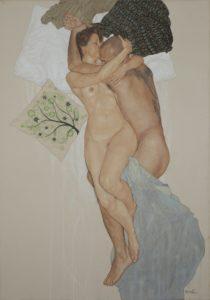 Riccardo Mannelli, Hasta mañana mi amor n° 8. Pittura su cotone applicato su tela, 2016