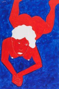 Ernesto Tatafiore, Signorina n° 43. Acrilico su tela, 2015