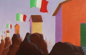 Nicola Vitale, Frontiera. Olio su tela, 45x70 cm, 2011