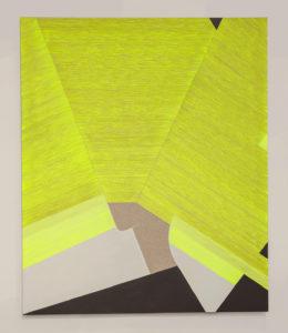 Ester Grossi, Giallo coprente. Acrilico su tela, 120x100 cm, 2019. Foto Giulia Mazza