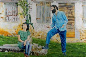 Manuel Pablo Pace, Hic et nunc. Olio su lino, 100x150 cm, 2015