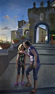 Federico Lombardo, Porta di Agropoli. Olio su lino, 65x110 cm, 2019
