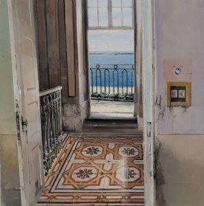 Matteo Massagrande- Viaggio in Dalmazia. Pittura su tavola 30x30 cm 2017