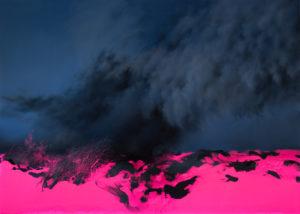 Enrico Minguzzi, Bruma. Olio su resina epossidica su lino, 100x140 cm, 2019