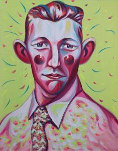 Luigi Presicce, Il giovane De Kooning lynchato. Acrilico su tela, 60x48 cm, 2019