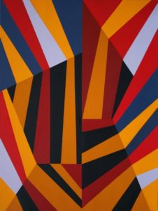 Marco Petrus, Shade Abstractions 2. Olio su tela, 80x60 cm, 2019