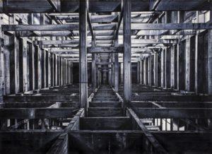 Andrea Chiesi, Eskhatos 5. Olio su lino, 100x140 cm, 2018